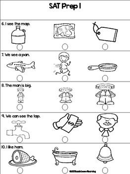 SAT 10 Practice for Kindergarten