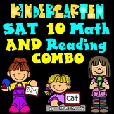 SAT 10 Reading and Math COMBO Practice:  Kindergarten