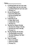 SAT 10 first grade sentence proofreading