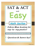 SAT Math Prep! Follows Khan Academy! SAT & ACT Made Easy! ACT Math! FULL Version