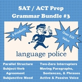 SAT / ACT Prep: Grammar Bundle #3 (Writing Questions & Verb Usage)