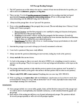 SAT/ ACT Reading Overview, Strategies, and Practice (32 pages!)