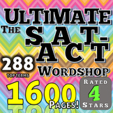 SAT ACT Reading Vocabulary Test Preparation Worksheets and