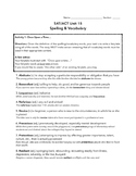SAT ACT Unit 15 Spelling/Vocabulary Activities & Assessments