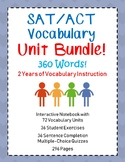 SAT Vocabulary Bundle - Interactive Notebook, Worksheets,