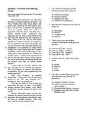 SAT Reading Bell Ringer Literature 3