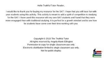 SAT Bowl: Writing and Language Edition