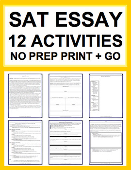 SAT Essay: Common Core Aligned: Complete Guide (12 Activities)