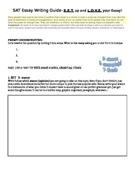 SAT Essay Step-by-step writing guide!