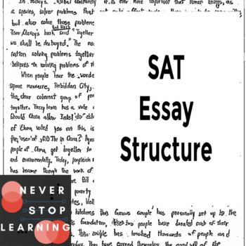 SAT Essay Structure by NEVER STOP LEARNING | Teachers Pay