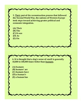 SAT Flash Cards-English Grammar