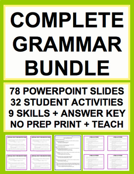 GRAMMAR TEST PREP COMPLETE SAT GUIDE & KEY (30 activities) 70% OFF