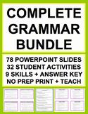 GRAMMAR TEST PREP COMPLETE SAT GUIDE & KEY (30 activities) BUNDLE