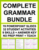 GRAMMAR TEST PREP COMPLETE SAT GUIDE & KEY (30 activities) BUNDLE