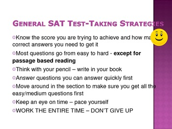 SAT General Information and Strategies