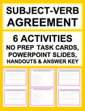 Subject Verb Agreement Bundle & ANSWER KEY!