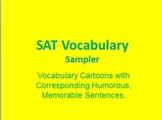 SAT (High School) Vocabulary Cartoons--FREE SAMPLER PACK