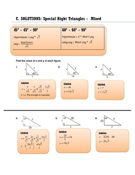 GEOMETRY: SPECIAL TRIANGLES