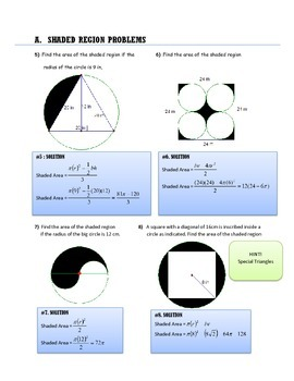 GEOMETRY: SHADED REGION PROBLEMS
