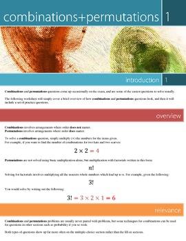 SAT Math: 1. Combinations+Permutations Worksheet