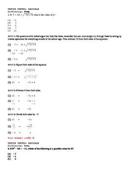 SAT Math: 3. Radicals (Square Roots, Cube Roots, Squaring and Cubing)