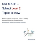 SAT Math Subject Test Level 2 Topics to Know