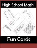 SAT Math Fun Cards-You Can Edit