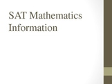 SAT Mathematics Information