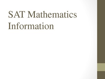 SAT Mathematics Information