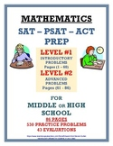 SAT-PSAT-ACT PREP      An Introduction for MIDDLE-HIGH SCHOOL