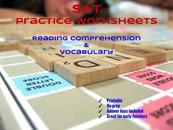 SAT Practice: Reading Comprehension & Vocabulary Mini-Bundle