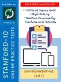 SAT-10 Practice Tests for Kindergarten (Environment-Version 1)