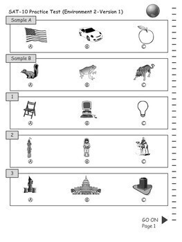 SAT Practice Test in Environment for Second Grade (Version 1)