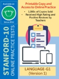 SAT-10 Practice Tests for First Grade (Language-Version 1)