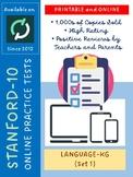 Test/Assessment Resources for Kindergarten (Language-Version 1)