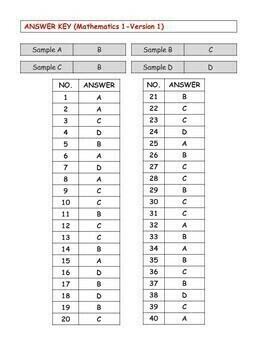 Test/Assessment Resources for First Grade (Mathematics-Version 1)