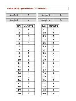 Test/Assessment Resources for First Grade (Mathematics-Version 2)