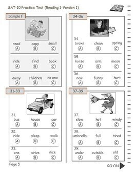 Test/Assessment Resources for First Grade (Reading-Version 1)