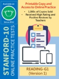 SAT-10 Practice Tests for First Grade (Reading-Version 1)