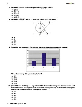 SAT Prep 2 (Questions and Answer Key)