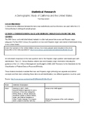 SAT Prep: Charts, Tables, and Graphs using U.S. Census Data Study