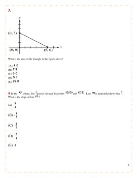 SAT Math Practice Test-40 Challenging Problems
