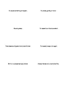 SAT Quack Vocabulary Lesson 3 Flashcards