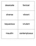 SAT Quack Vocabulary Lesson 5 Flashcards