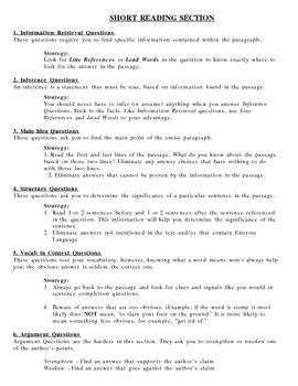 SAT Question Types Breakdown