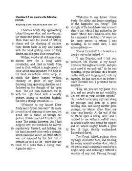 SAT Reading Bell Ringer Literature 6