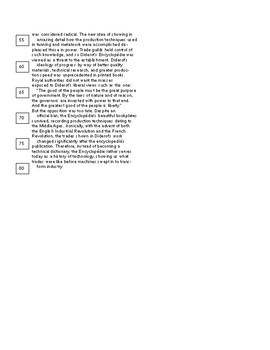 SAT Reading Passage (Diderot's Encyclopedia)