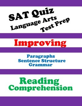SAT Reading Practice Quiz (Passage-Based Reading) by Mo ...
