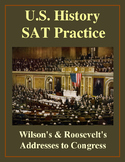 SAT Reading Practice – Wilson's and Roosevelt's War Addresses to Congress