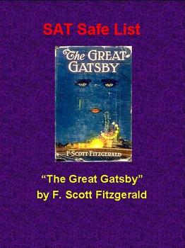 SAT Safe List - The Great Gatsby
